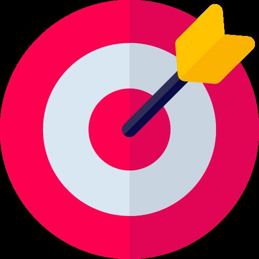 Target with arrow in the bullseye spot