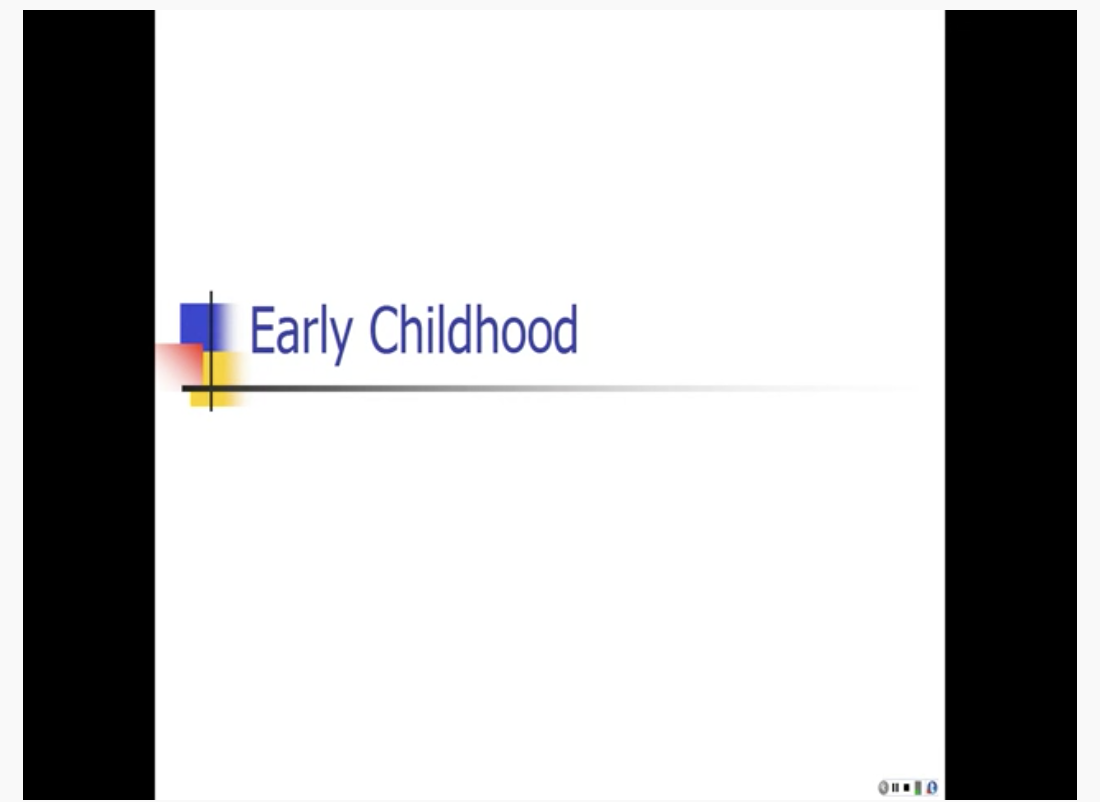 Screenshot of YouTube video on Early Childhood by Laura Overstreet.