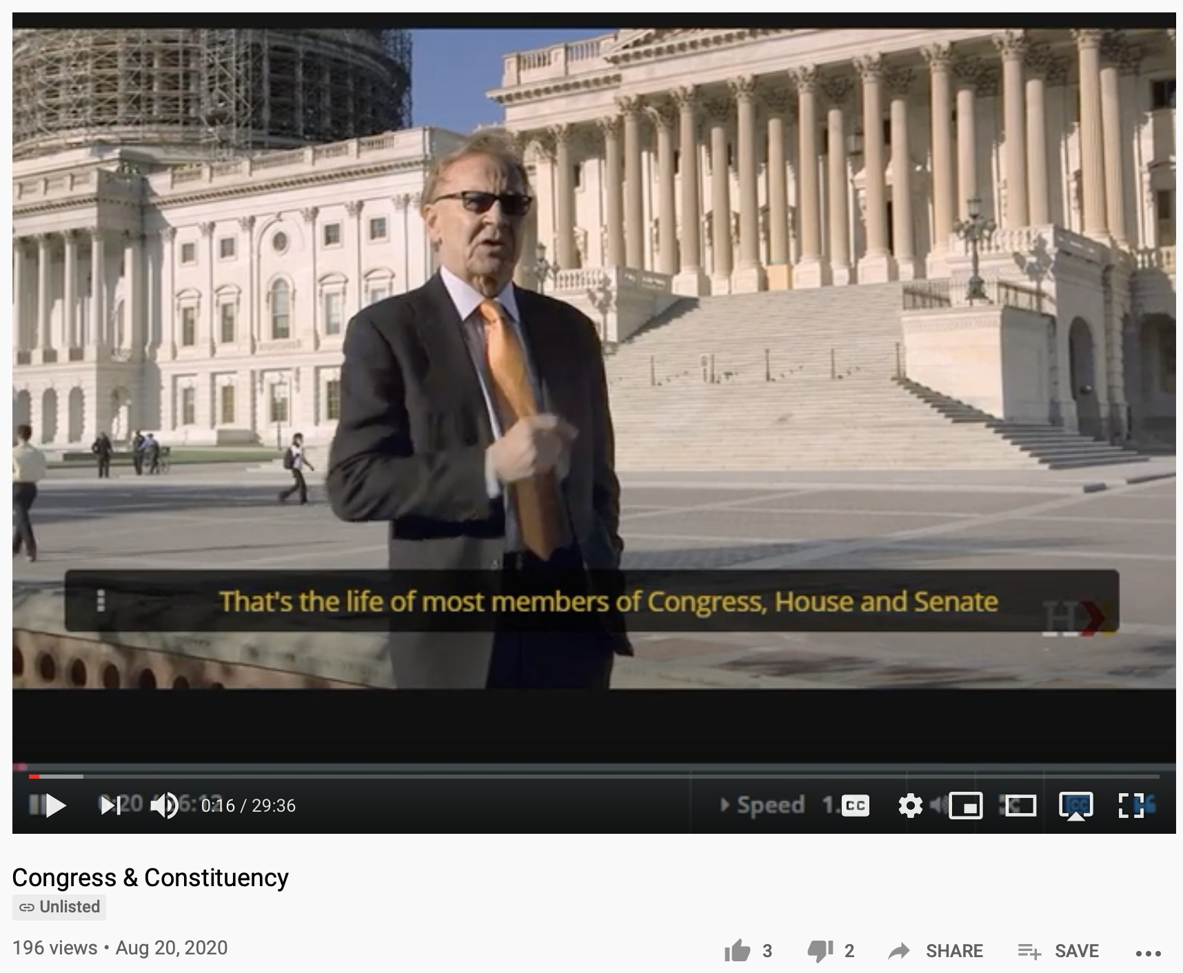Video lecture with Harvard Professor, William Patterson, on Congress & Constituency available on YouTube and his HarvardX/EdX page.