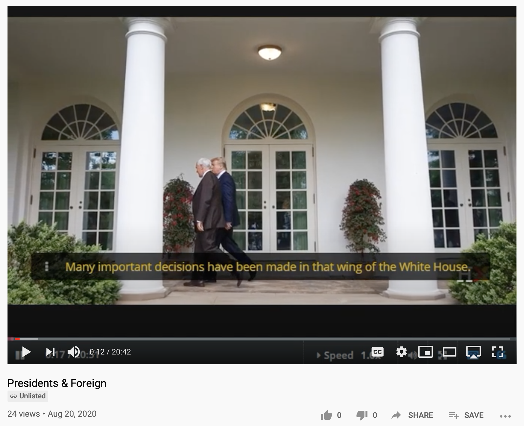 VIdeo lecture from Harvard professor, William Patterson, on Presidents & Foreign available on YouTube and his HarvardX/EdX page.