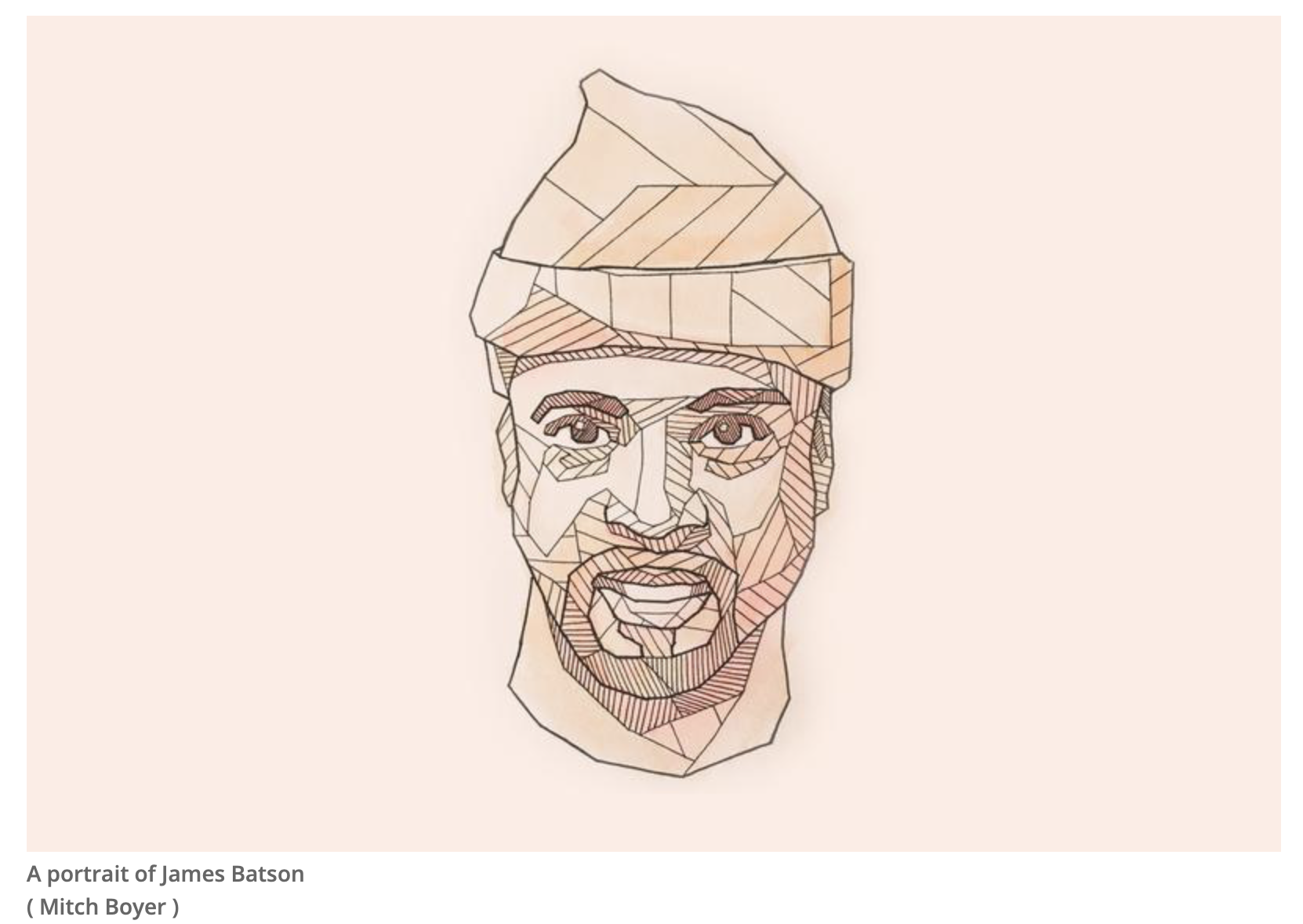 Screenshot of James Batson for the audio broadcast More Perfect from WNYC.