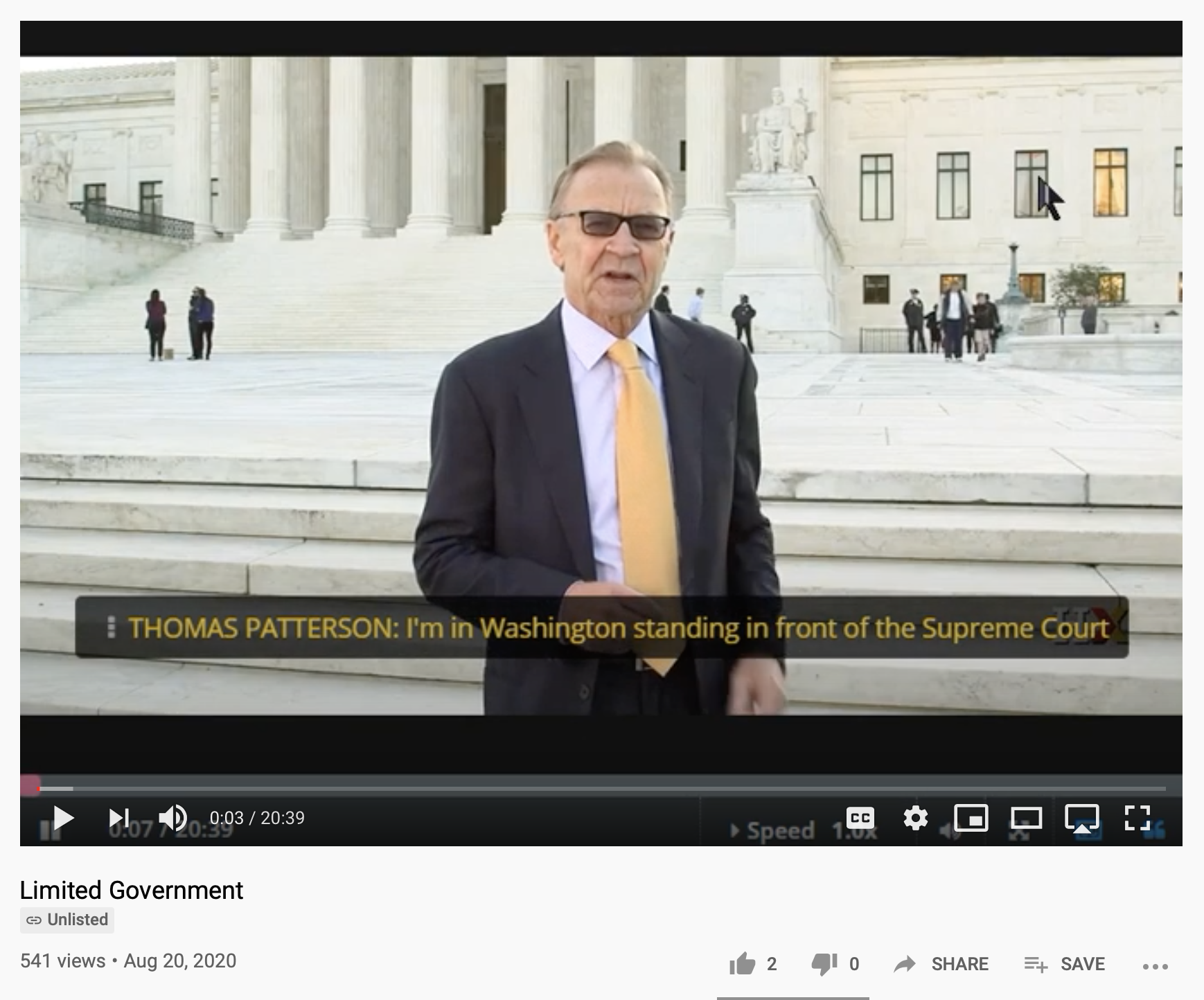 Video lecture from Harvard Professor, William Patterson, on Limited Government available via YouTube and his HarvardXEdX page.