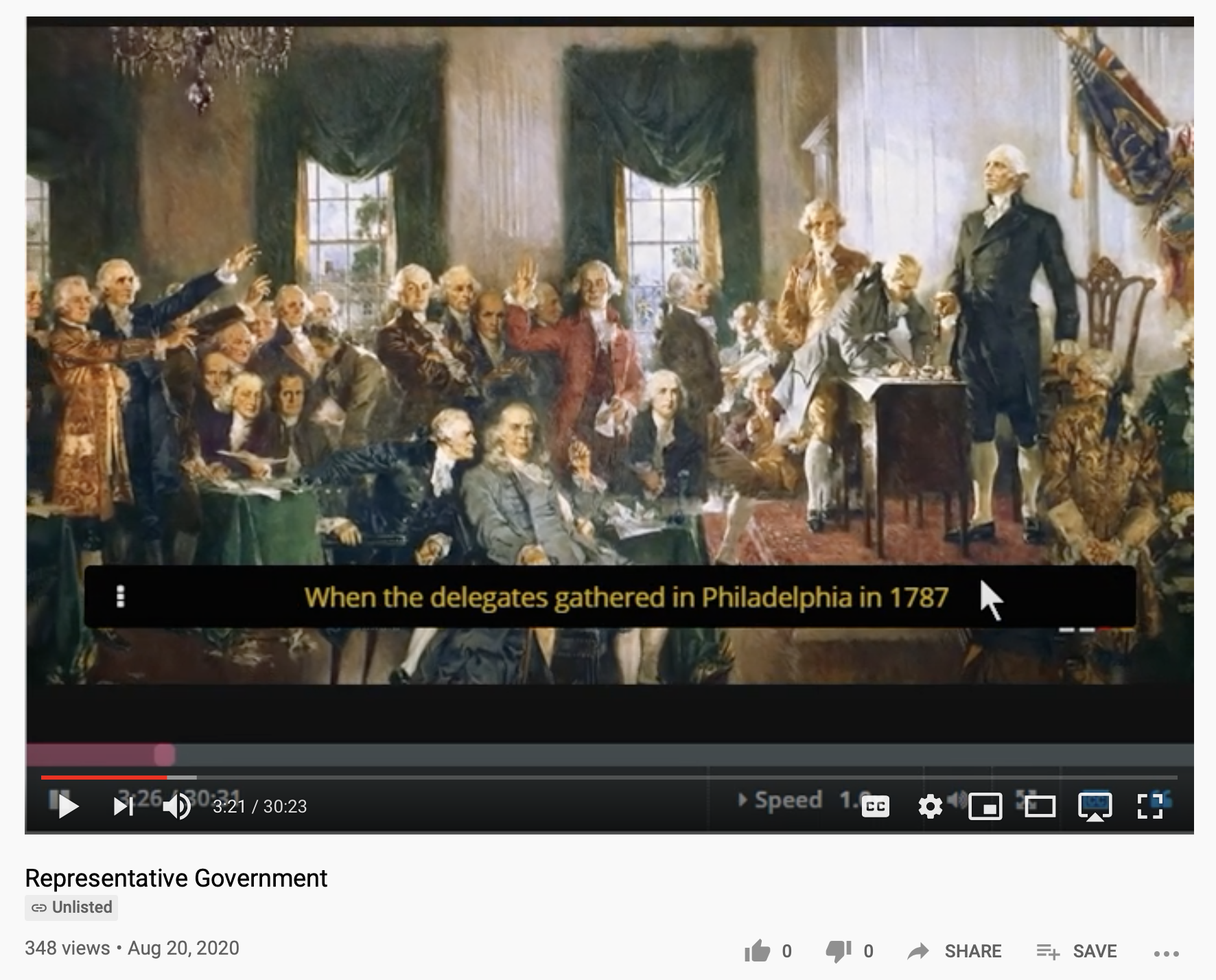 VIdeo Lecture by Harvard Professor, William Patterson, on Representative Government available on YouTube of his HarvardX/EdX page.