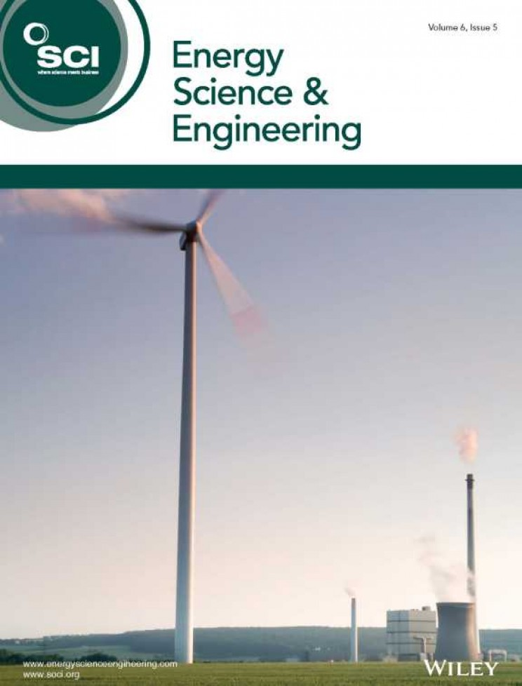 Cover of Energy Science & Engineering Journal