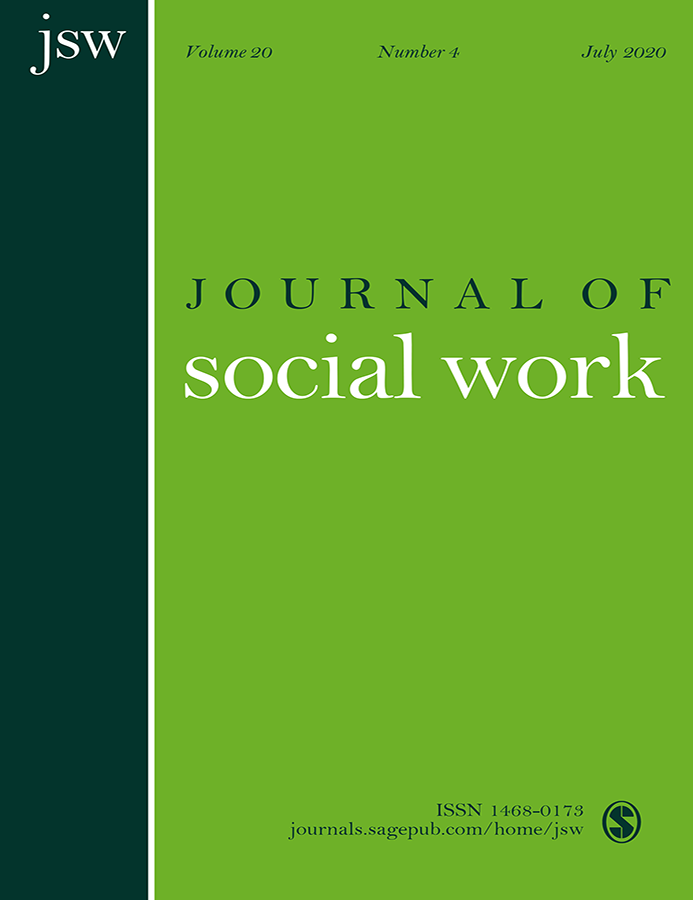 Cover of Journal of Social Work
