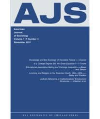 Cover image of American Journal of Sociology