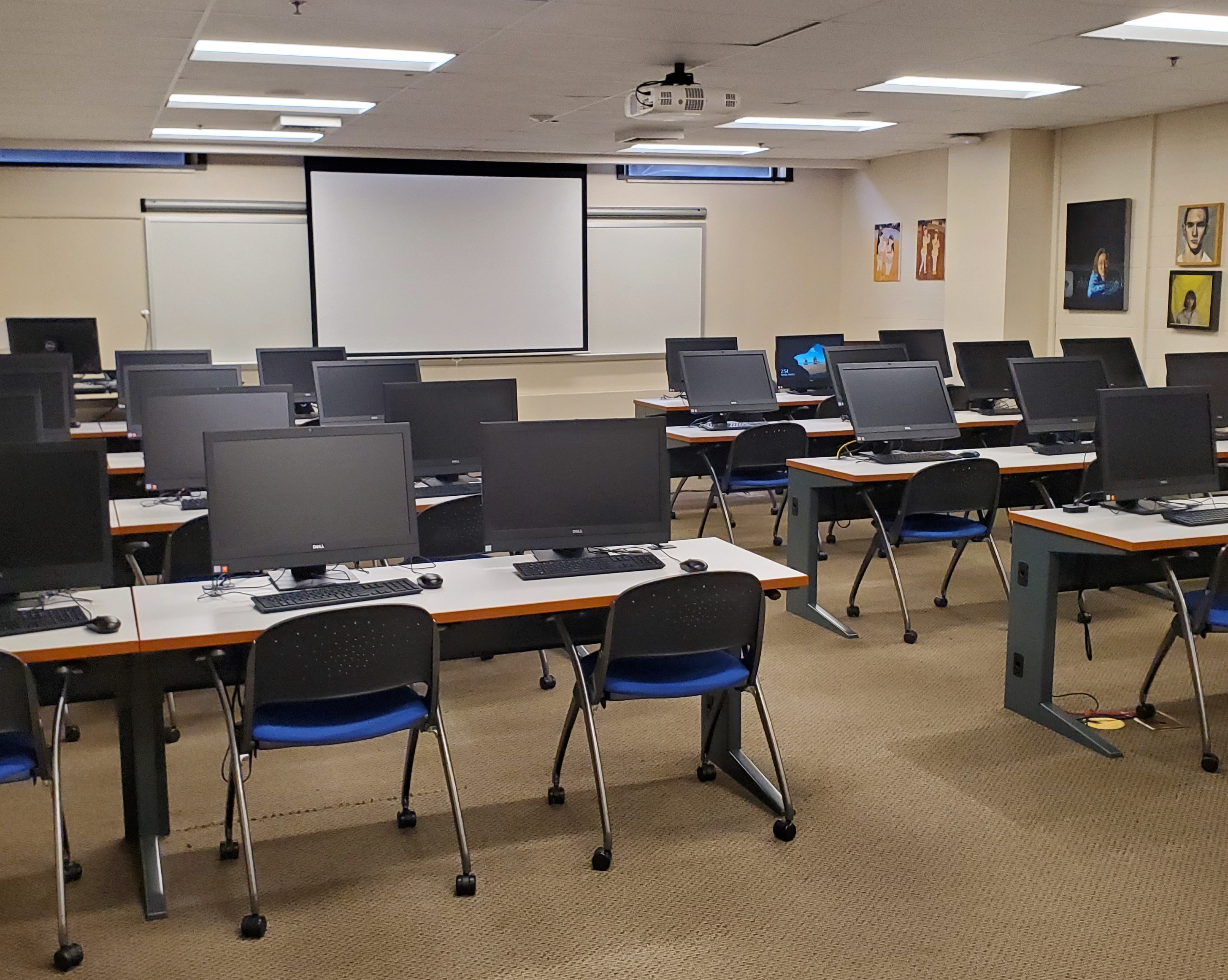 Image of basement computer lab