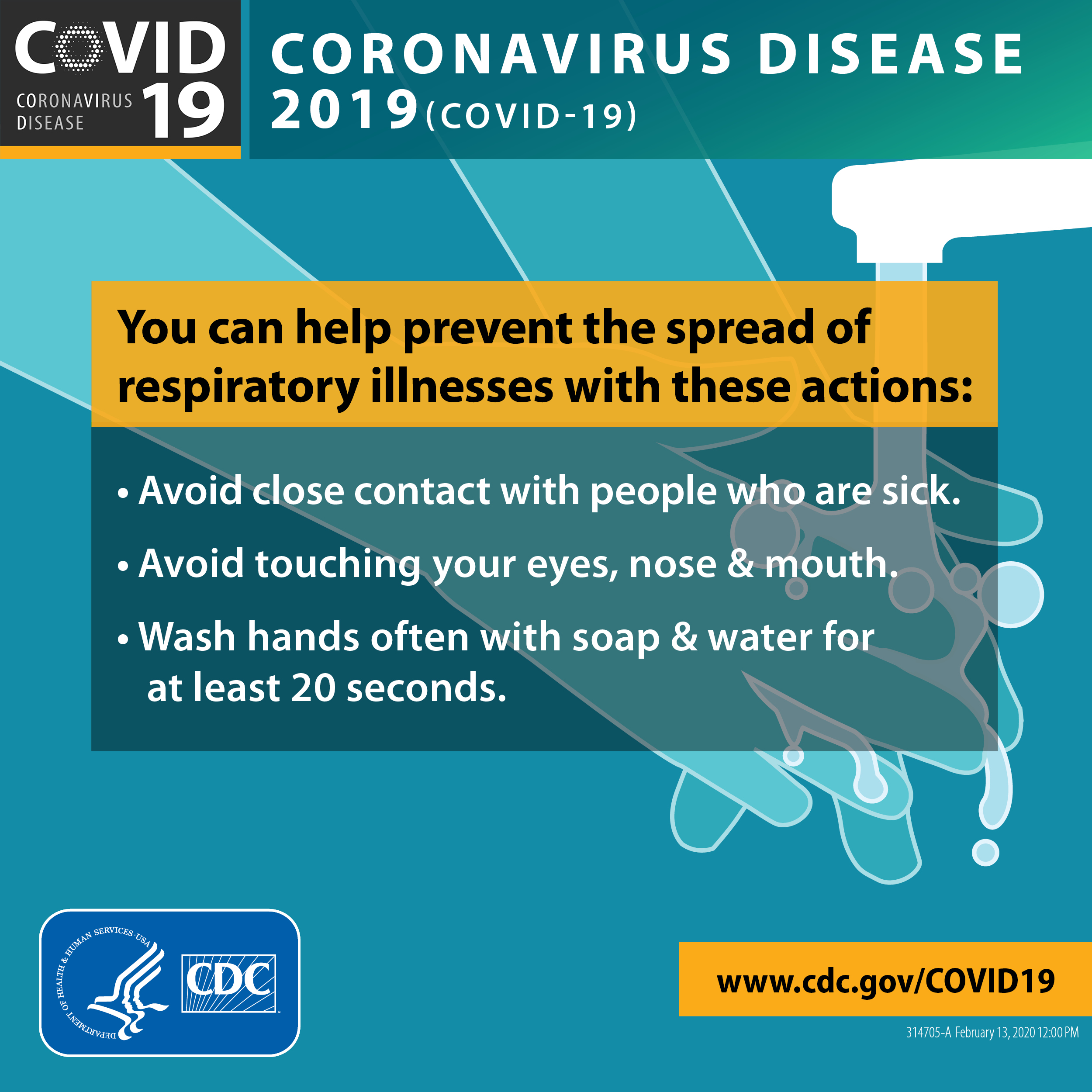 poster outlining prevention of covid19