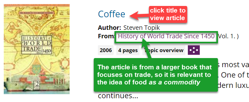 example of an article from a larger book about world trade