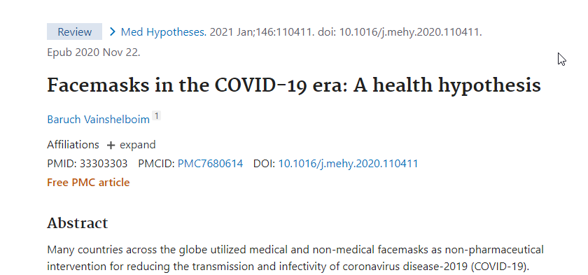 screencapture of the article title on PubMed
