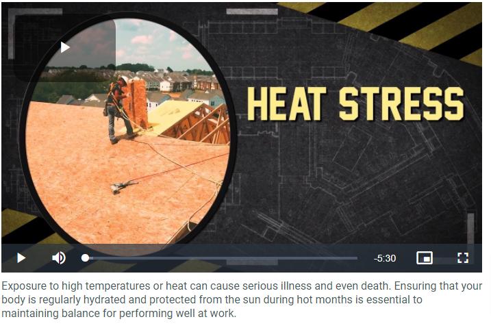 "screenshot of the ""Heat Stress"" video title screen"