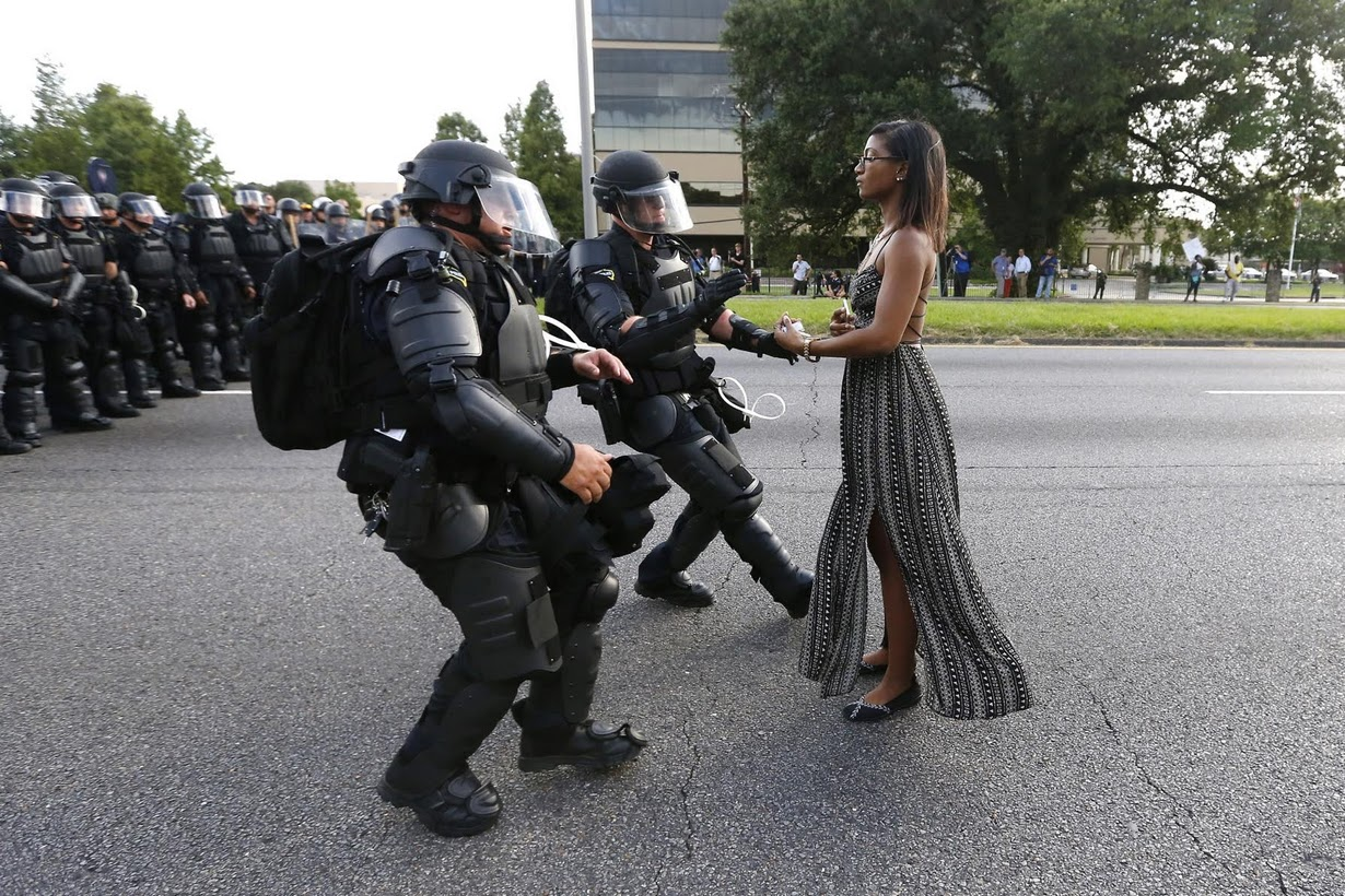 Taking a Stand in Baton Rouge by Jonathan Bachman/Reuters (July 2016)