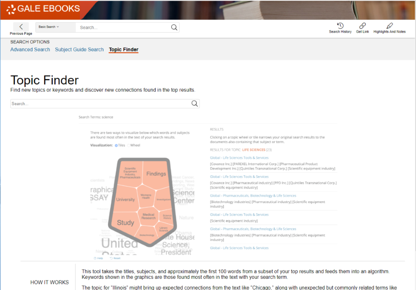 Topic Finder in Gale eBooks - Gale Virtual Reference Library (GVRL)
