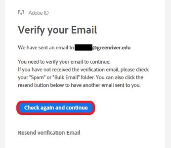 Adobe email verify