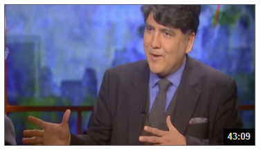 Screen shot of Sherman Alexie from video