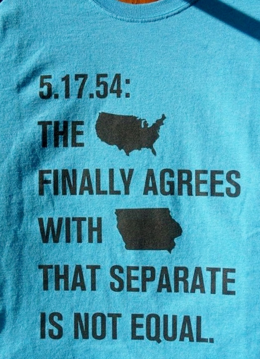 Iowa leads nation in educational equality t-shirt