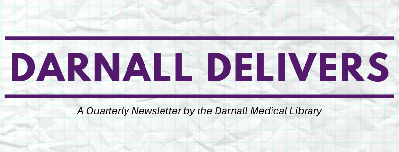 Banner for quarterly newsletter, Darnall Delivers