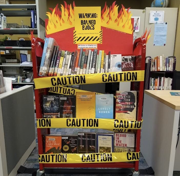 image of Downtown Library Banned Books Display