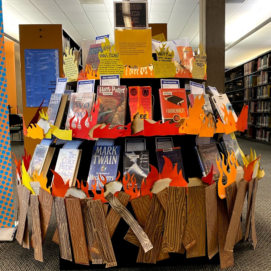 image of West Campus Library Banned Books Display