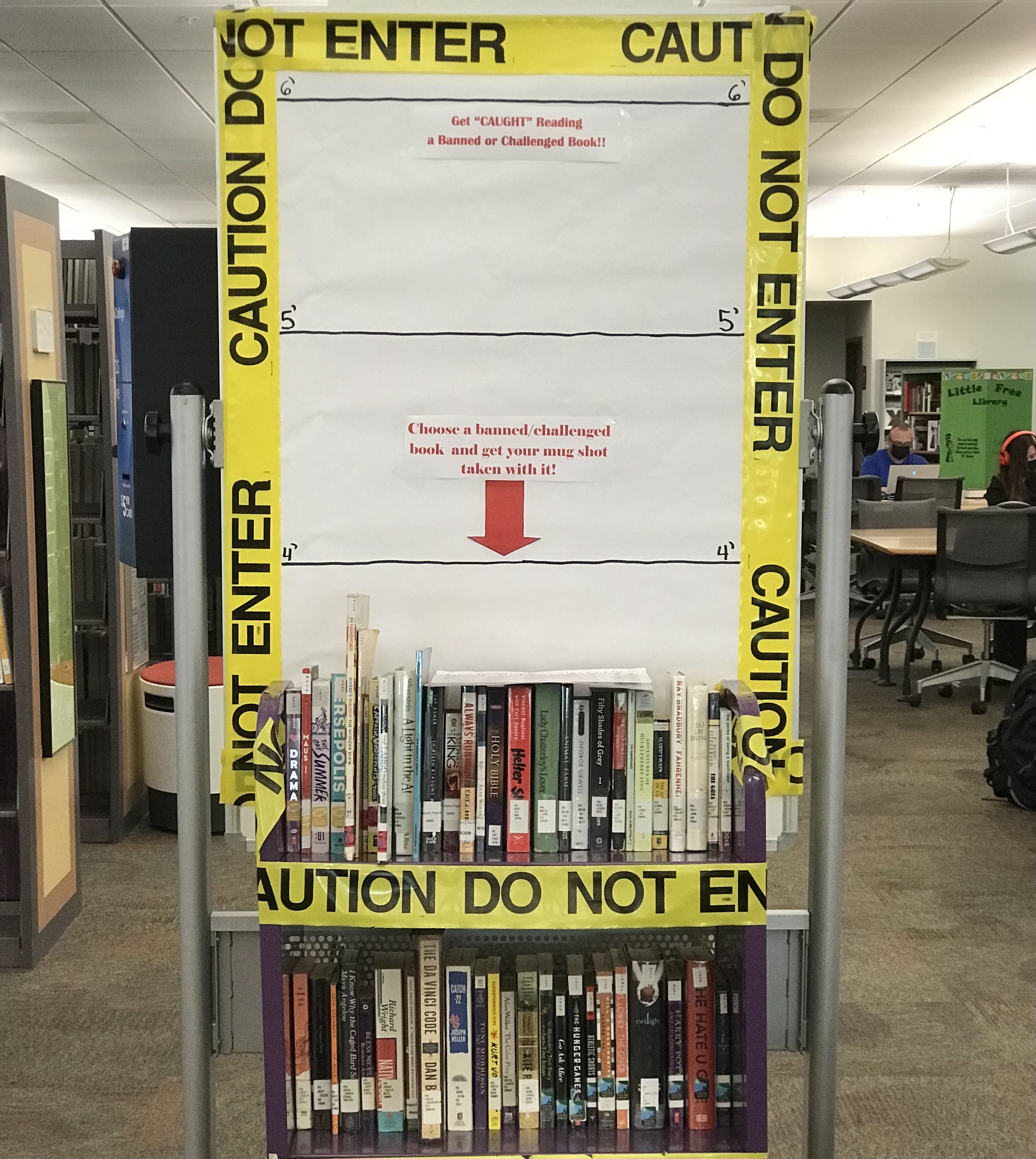 image of East Campus Library Banned Books Display