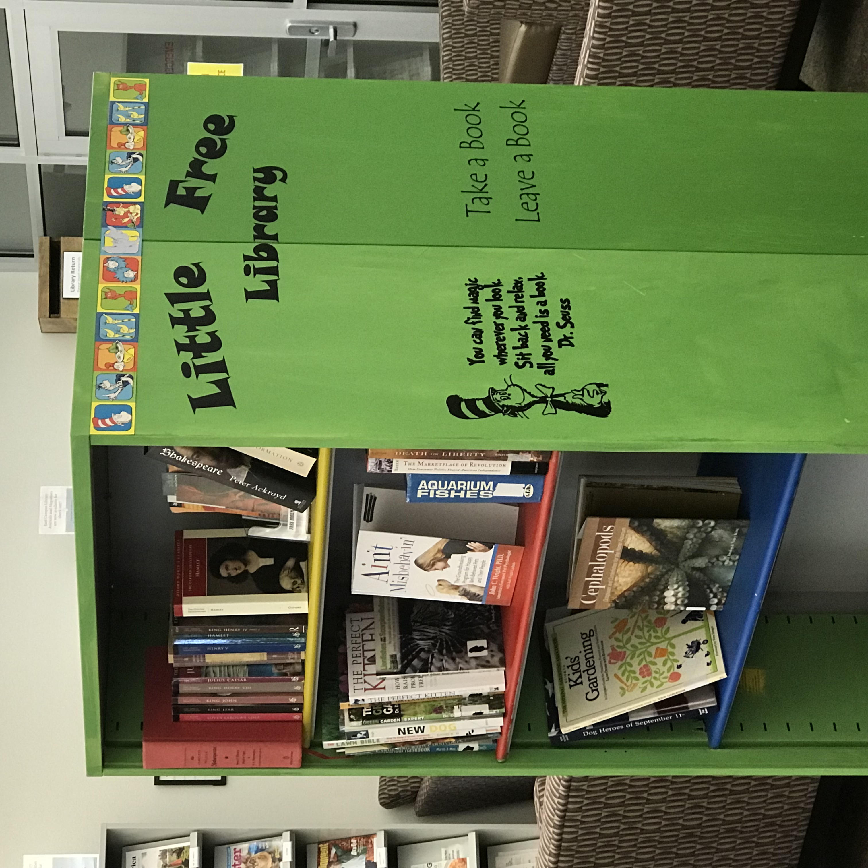 Image of Little Free Library at East Campus