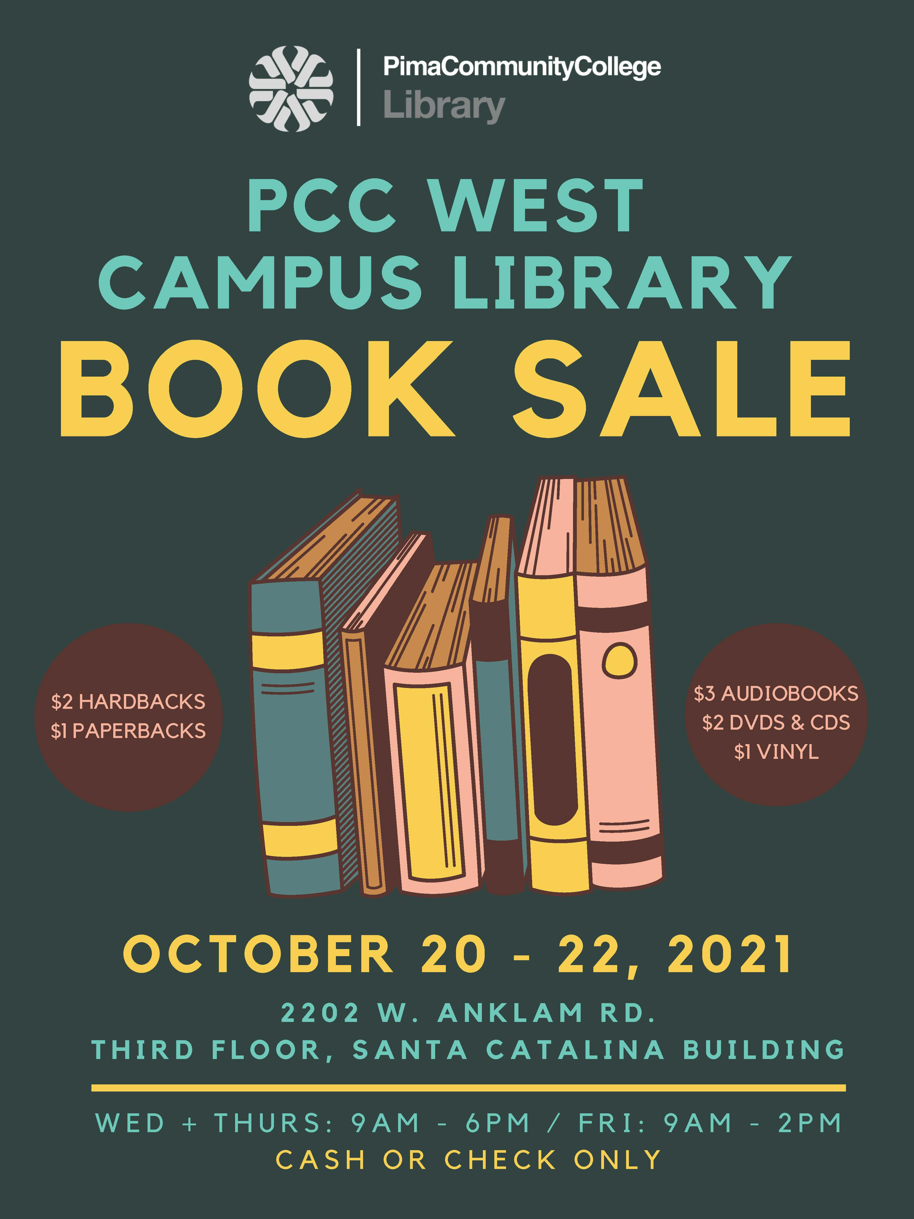 WC book sale  Oct 20-21 9am - 6pm, Oct 22 9am-2pm. In Library 3rd floor C building.