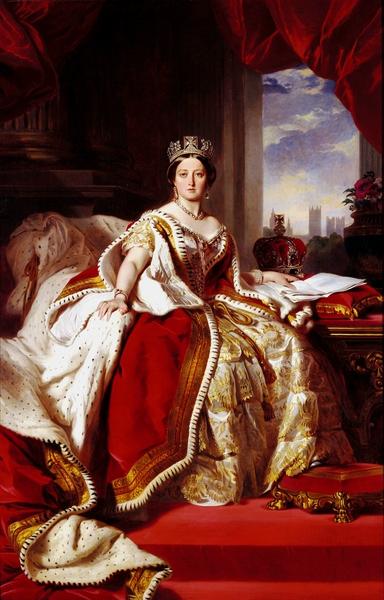 """Portrait """"Queen Victoria"""" by Franz Xavier Winterhalter, 1859"""