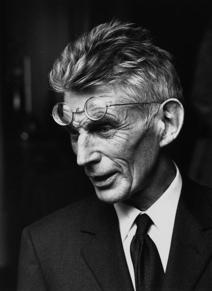 Black and white photograph of Samuel Beckett