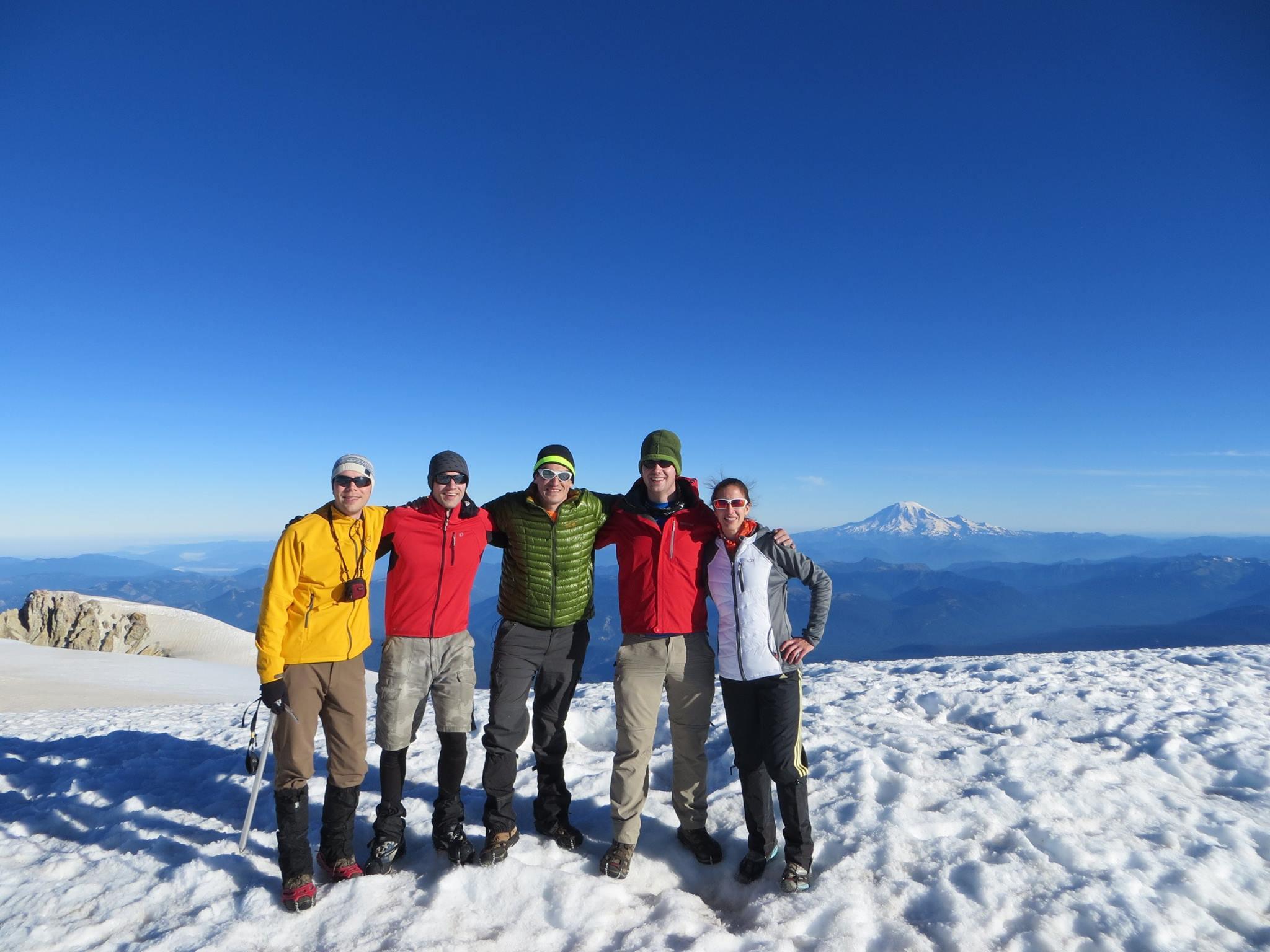 Mattias and friends mountain climbing