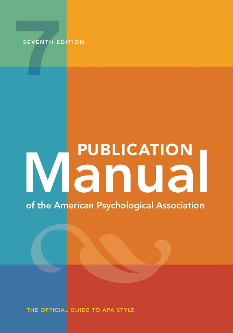 Image of the APA Manual of Style 7th edition