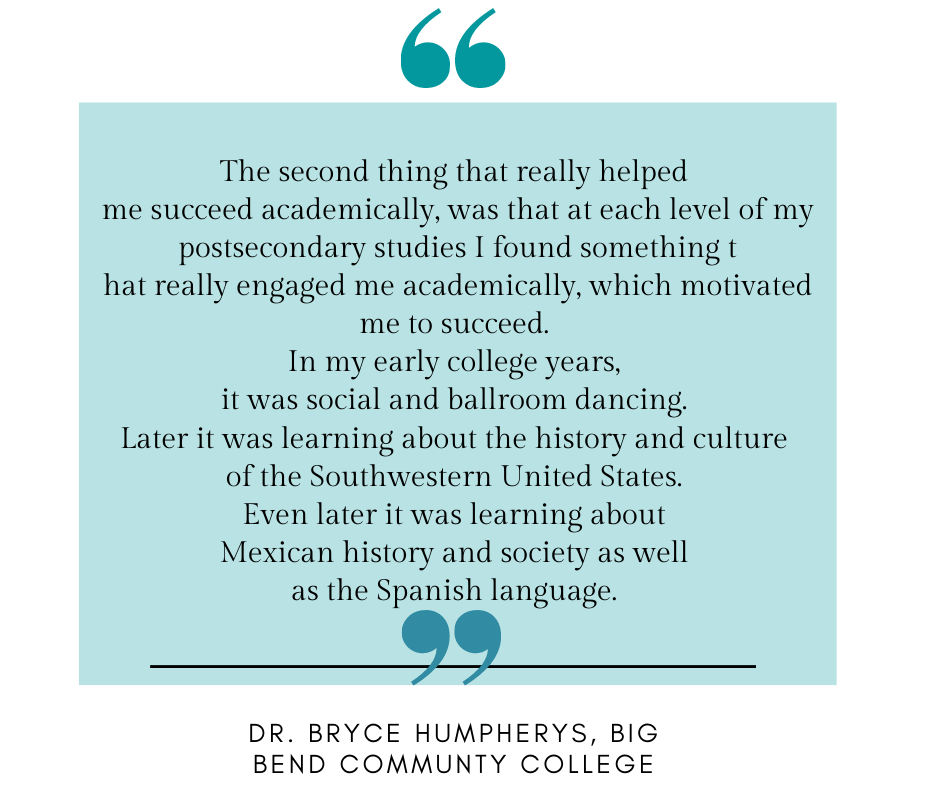 A quote from Dr. Bryce Humpherys on success.