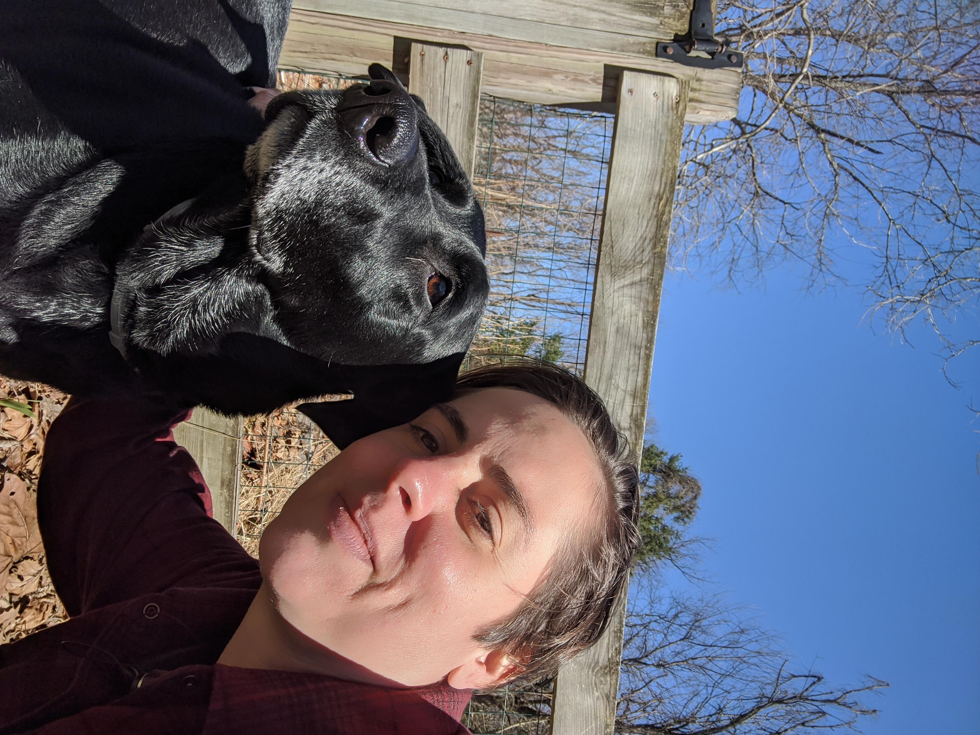 Image of Dr. Sara Thompson Tweedy with pet