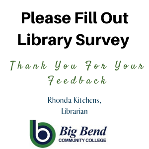 Please fill out library survey.