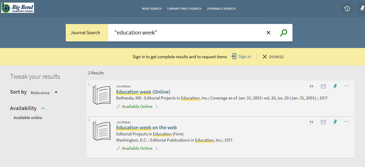 Type in Education Week
