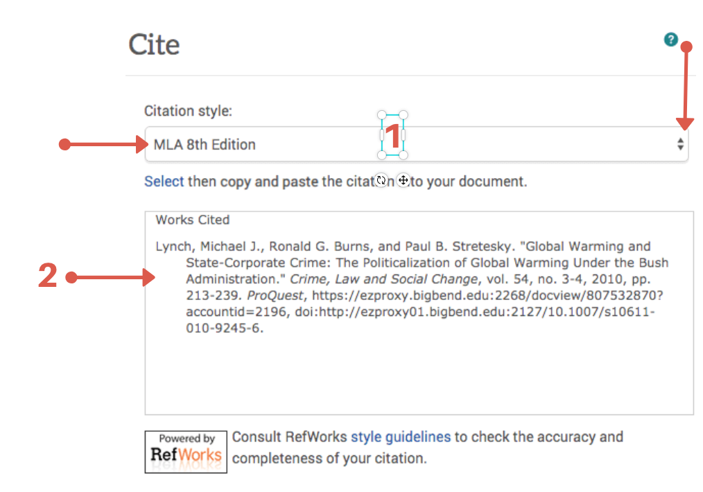 Example of Proquest Citation.