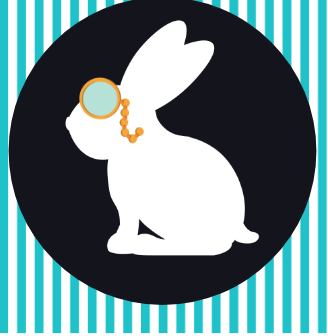 Rabbit with monocle