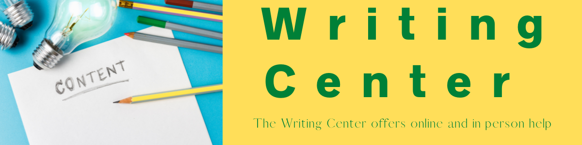The Writing Center is now online. Drop in for help!