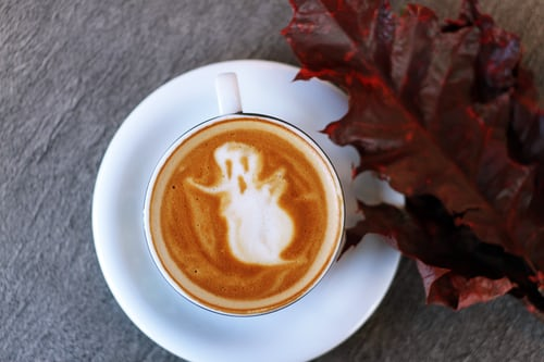 Ghost in Coffee cup....BOO!