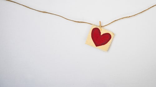 a heart on a string