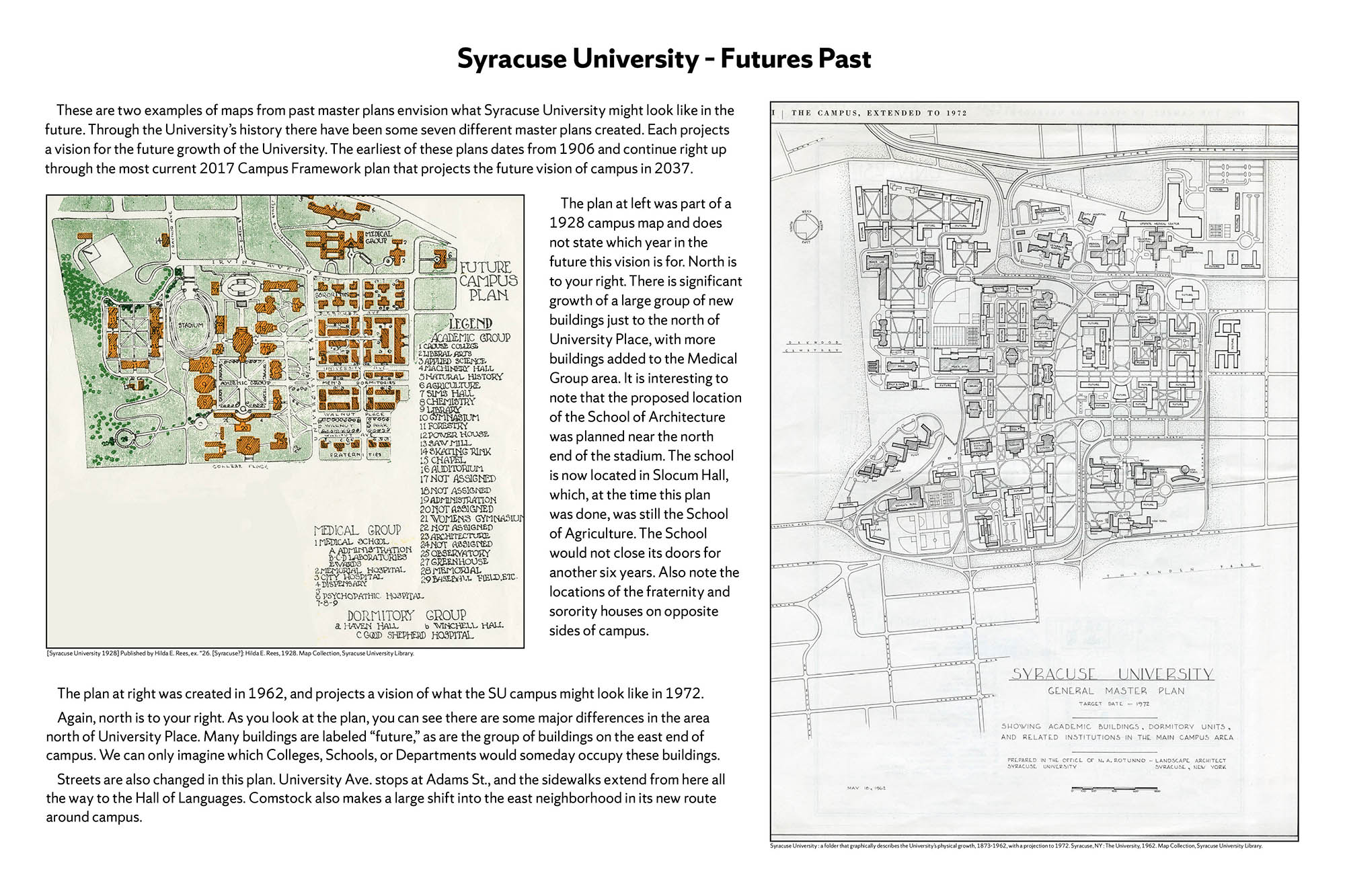 Syracuse University 150 years in maps – Futures Past poster