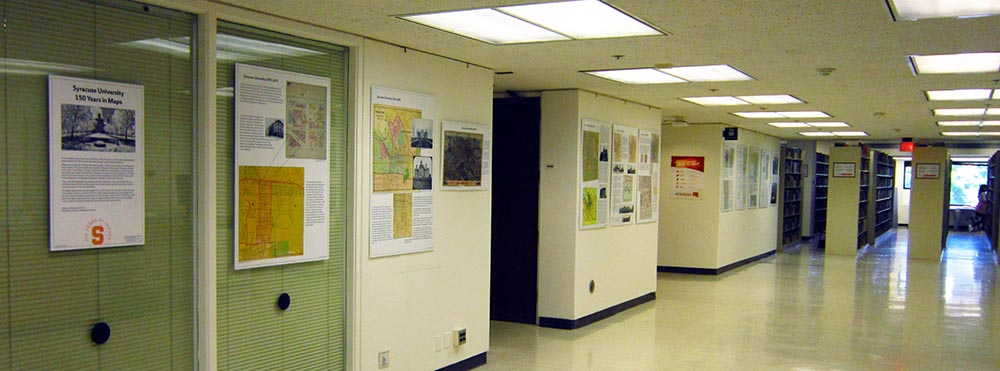 Photo of the exhibit on the third floor of Bird Library