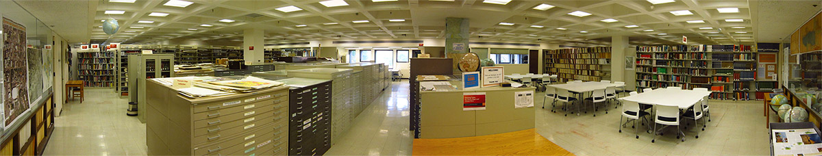 Panoramic view of the Map Room