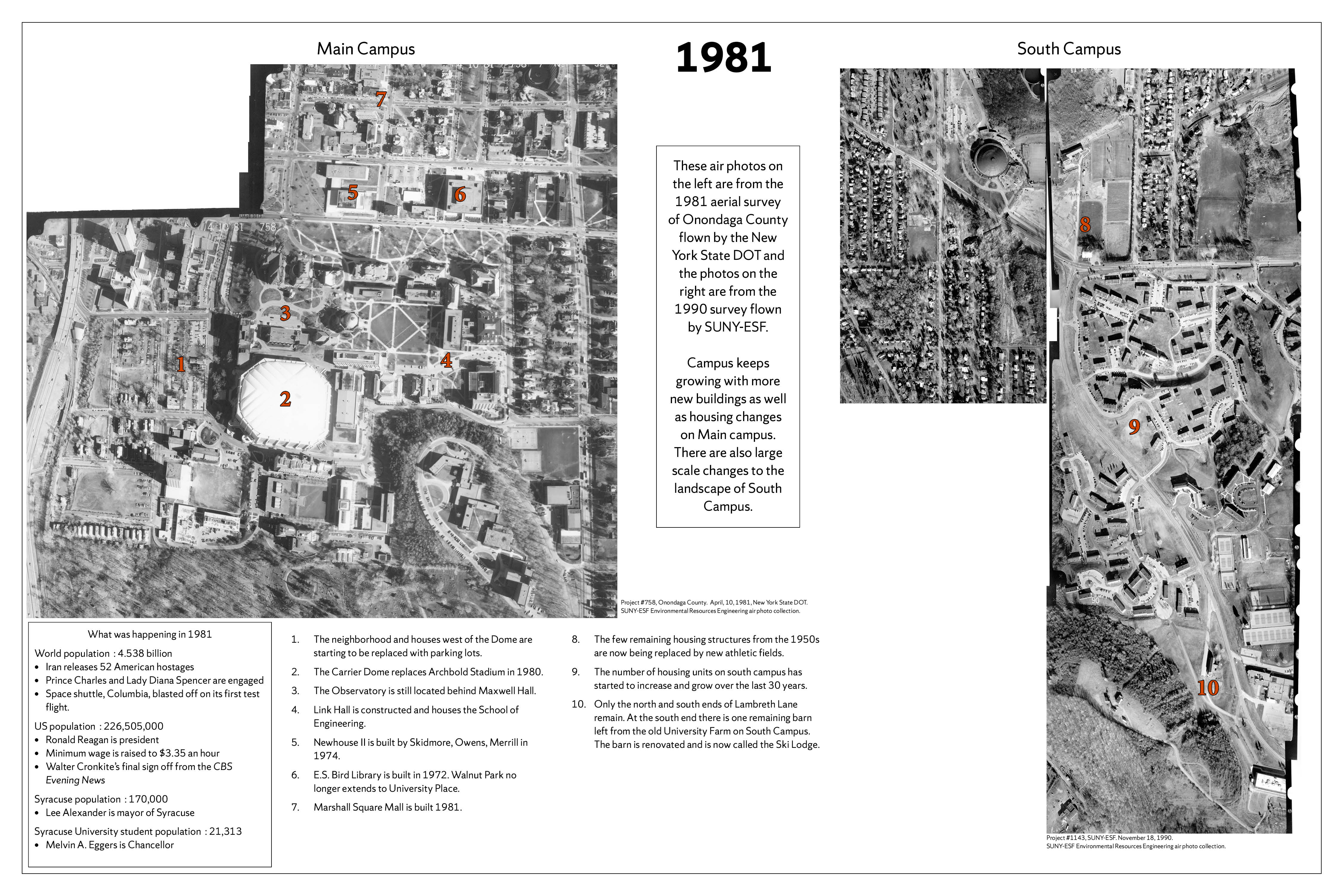 Syracuse University 150 years in maps – 1981 Air Photo poster