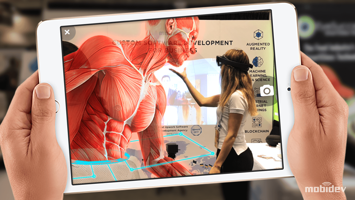 Example of augmented reality