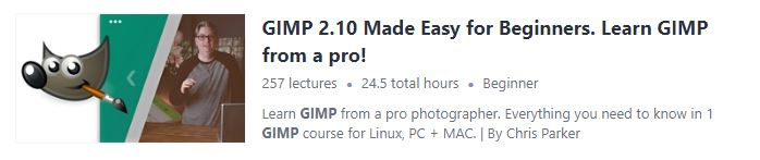 """Preview of Udemy """"GIMP"""" course"""