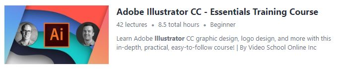 """Preview of Udemy """"Adobe Illustrator CC"""" course"""