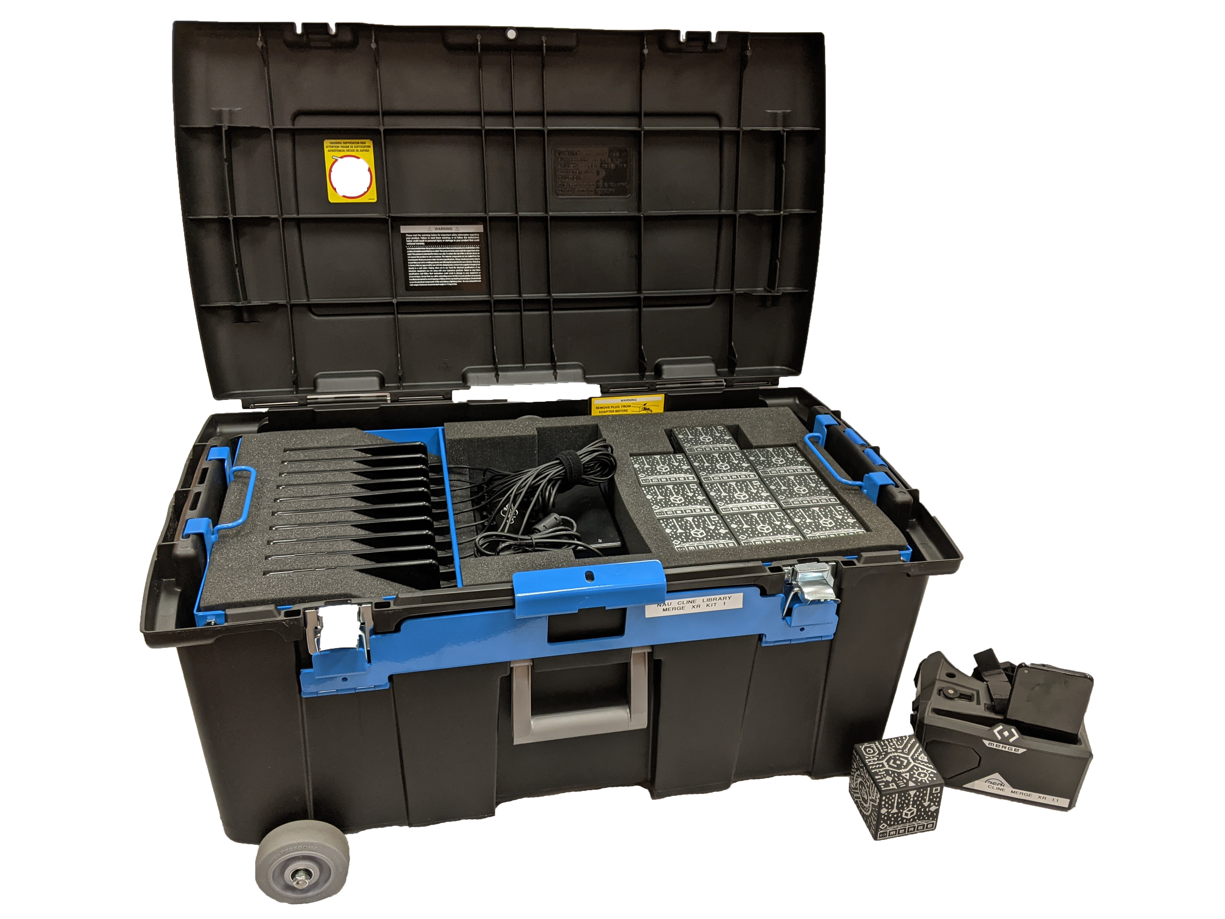 Merge XR kit components and portable case