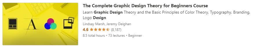 """Preview of Udemy """"Graphic Design Theory for Beginners"""" course"""