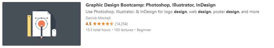 """Preview of Udemy """"Graphic Design Bootcamp"""" course"""