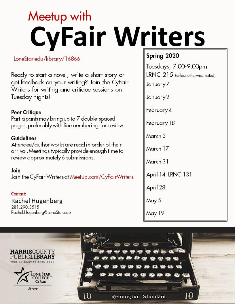 cyfair writers updated flyer
